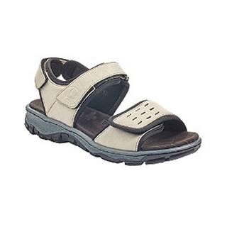 Béžové komfortné kožené sandále na suchý zips