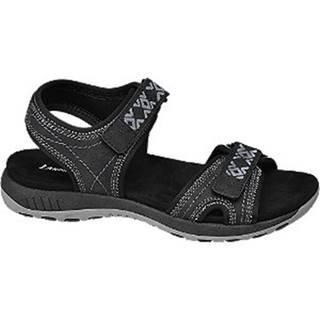 Čierne sandále na suchý zips