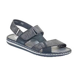 Tmavomodré komfortné sandále