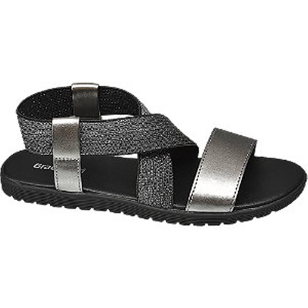 Graceland Strieborné sandále Graceland
