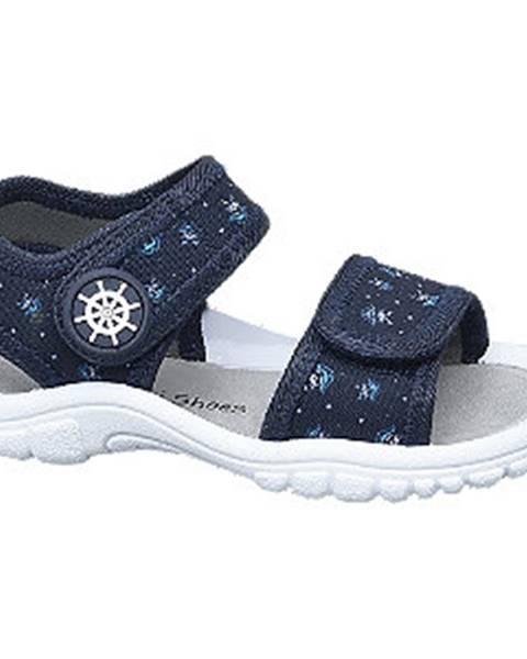 Tmavomodré sandále Bobbi-Shoes