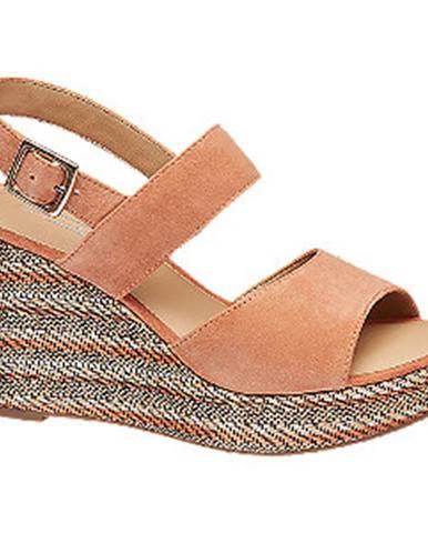 Oranžové sandále 5th Avenue
