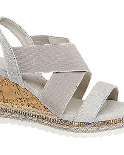 Sivé sandále Claudia Ghizzani