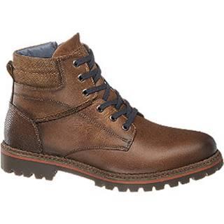 Hnedá kožená členková obuv AM SHOE