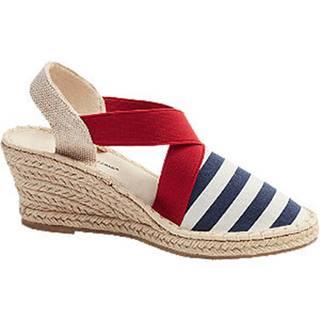 Modro-biele sandále na klinovom podpätku Claudia Ghizzani