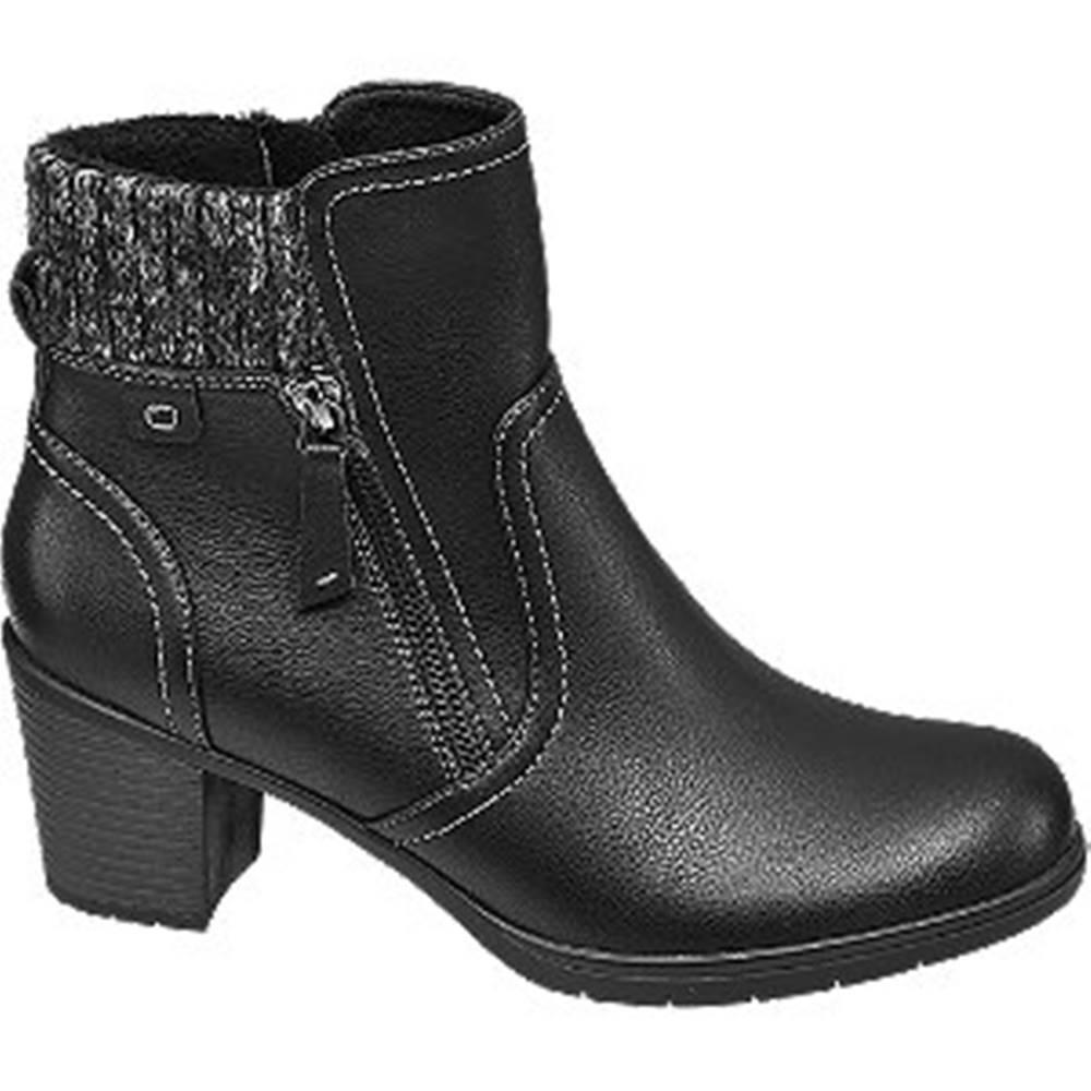 Easy Street Čierne komfortné členkové čižmy