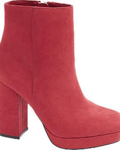 Červené čižmy Catwalk