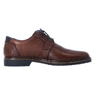 Hnedá kožená komfortná spoločenská obuv Rieker
