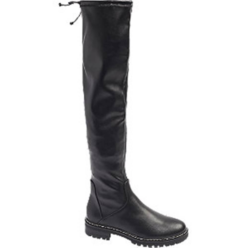 Graceland Čierne čižmy nad kolená