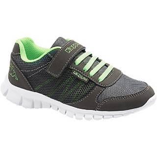 Čierno-zelené tenisky na suchý zips Kappa Stay K