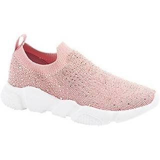 Ružové slip-on tenisky