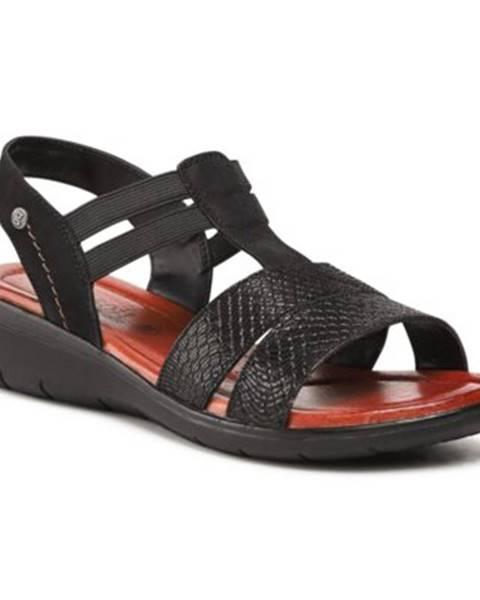 Čierne sandále GO SOFT