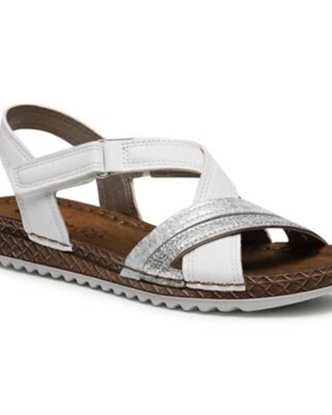 Biele sandále INBLU