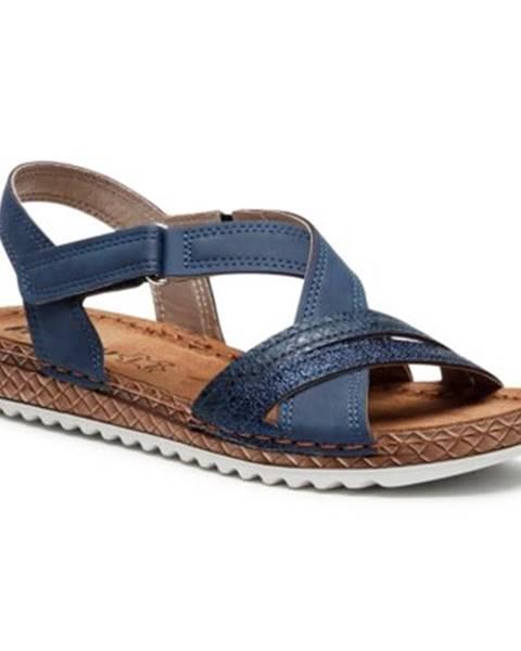 Tmavomodré sandále INBLU
