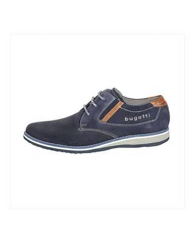 Tmavomodré topánky Bugatti