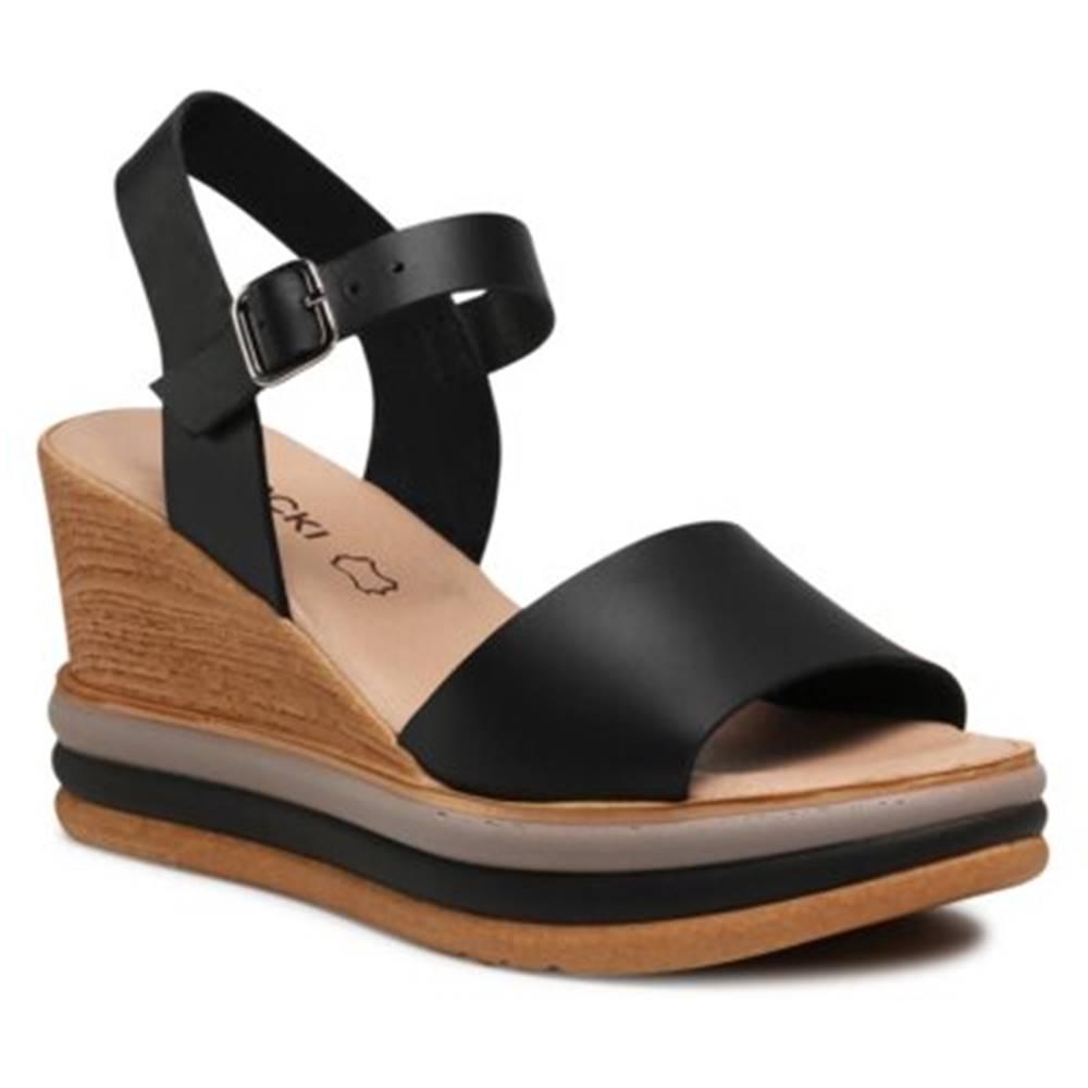Lasocki Sandále Lasocki S622 Prírodná koža(useň) - Lícova