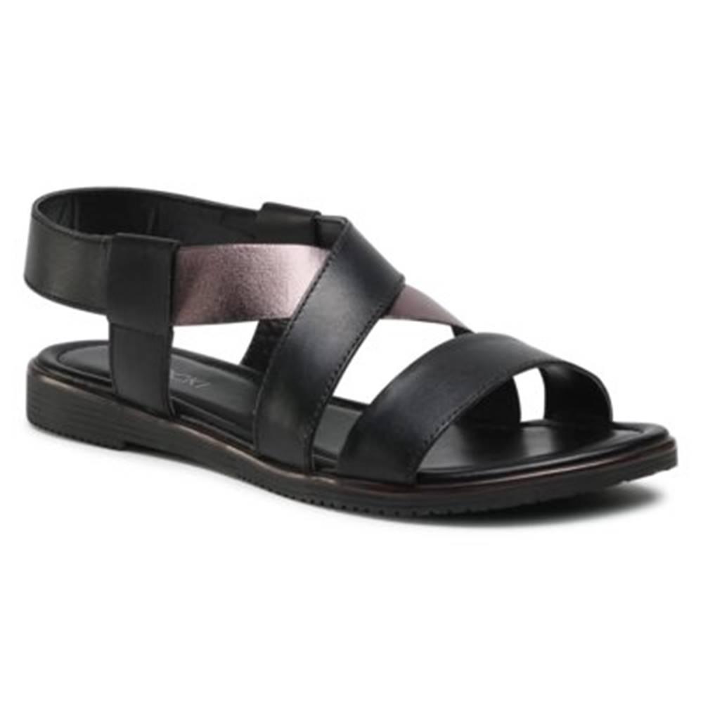Lasocki Sandále Lasocki WI23-NANCY-13 Prírodná koža(useň) - Lícova