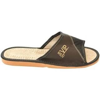 Papuče  Pánske hnedé papuče VIPMEN