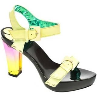 Sandále John-C  Dámske zelené sandále TROI