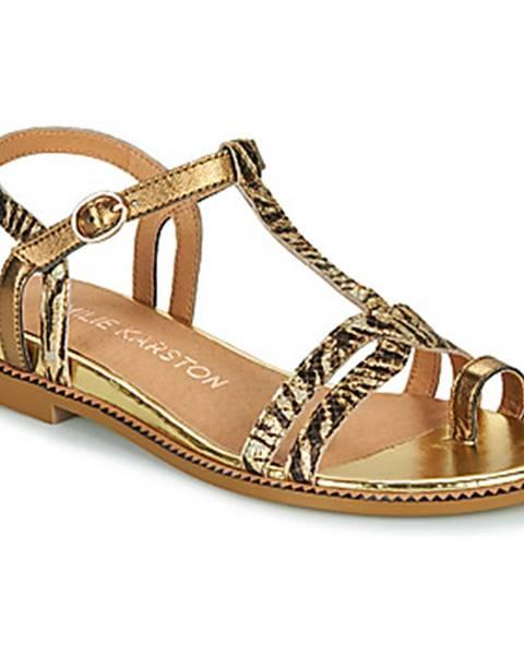 Zlaté sandále Karston