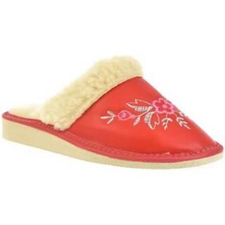 Papuče John-C  Dámske červené papuče ELIE