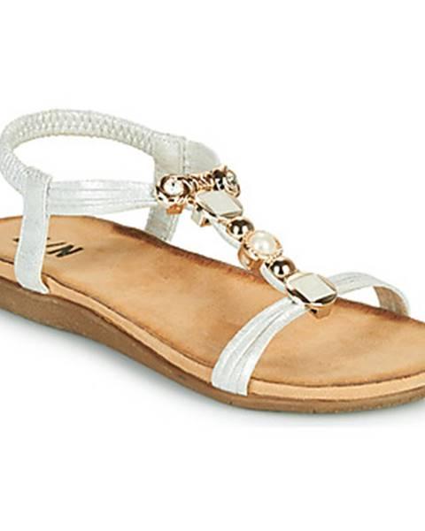 Strieborné sandále Elue par nous