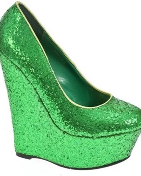 Zelené lodičky John-C