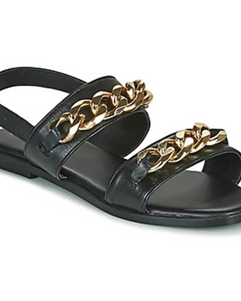 Čierne sandále Ravel