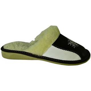 Papuče John-C  Dámske bielo-čierne papuče ANTONIA