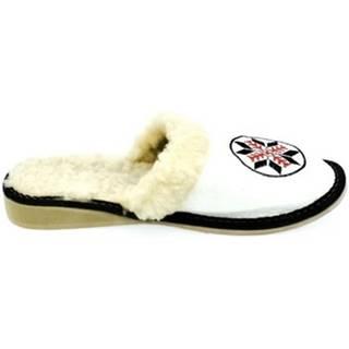 Papuče John-C  Dámske biele papuče CIMEL