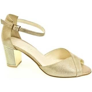 Sandále John-C  Dámske kožené zlaté sandále ENNI