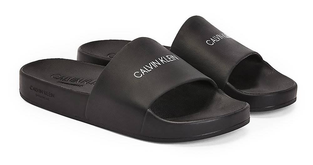 Calvin Klein Calvin Klein čierne šľapky