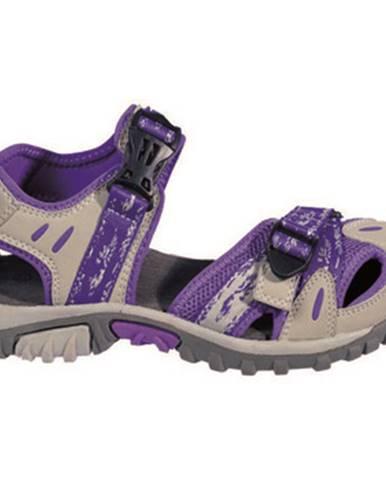 Fialové športové sandále Kimberfeel