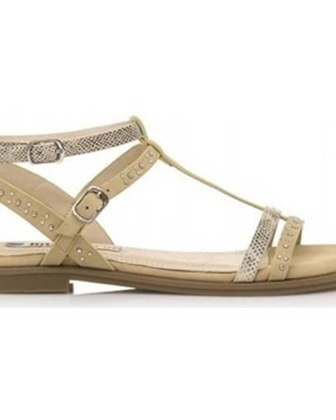 Béžové sandále MTNG