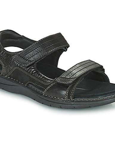 Čierne športové sandále Clarks