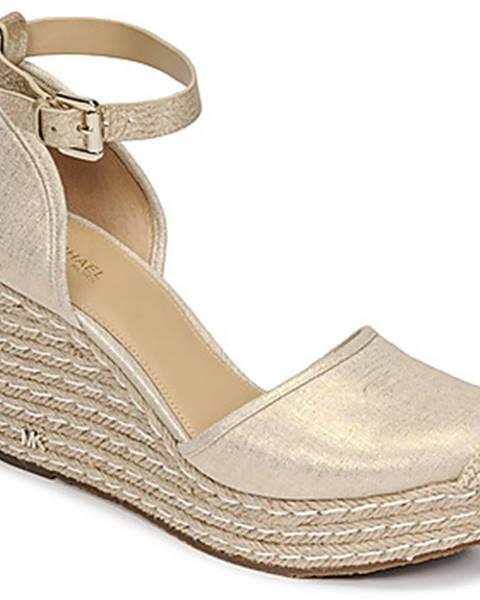Zlaté sandále MICHAEL Michael Kors