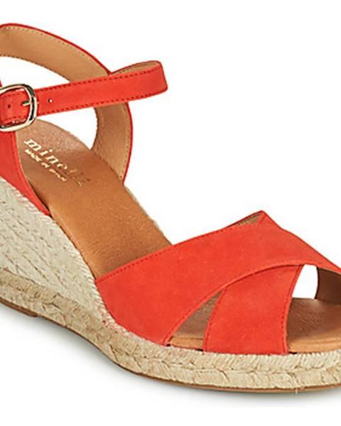 Červené sandále Minelli