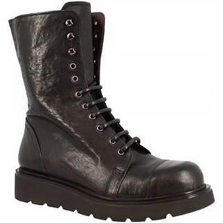 Čižmy do mesta Leonardo Shoes  D858_6 PE MONTONE NERO