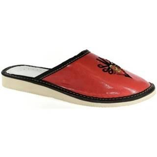 Papuče John-C  Dámske červené papuče ROXIE