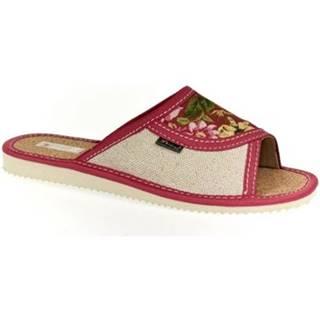 Papuče John-C  Dámske ružové papuče KVETKA