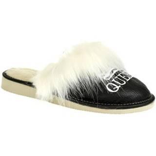 Papuče John-C  Dámske čierne papuče QUEEN