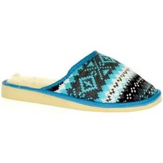 Papuče John-C  Dámske modré papuče DÁŠA