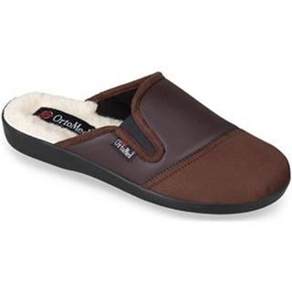 Papuče Mjartan  Pánske hnedé papuče  JANÍK