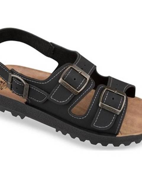 Čierne sandále Mjartan