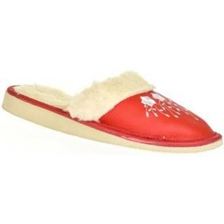 Papuče John-C  Dámske červené papuče MATILDA