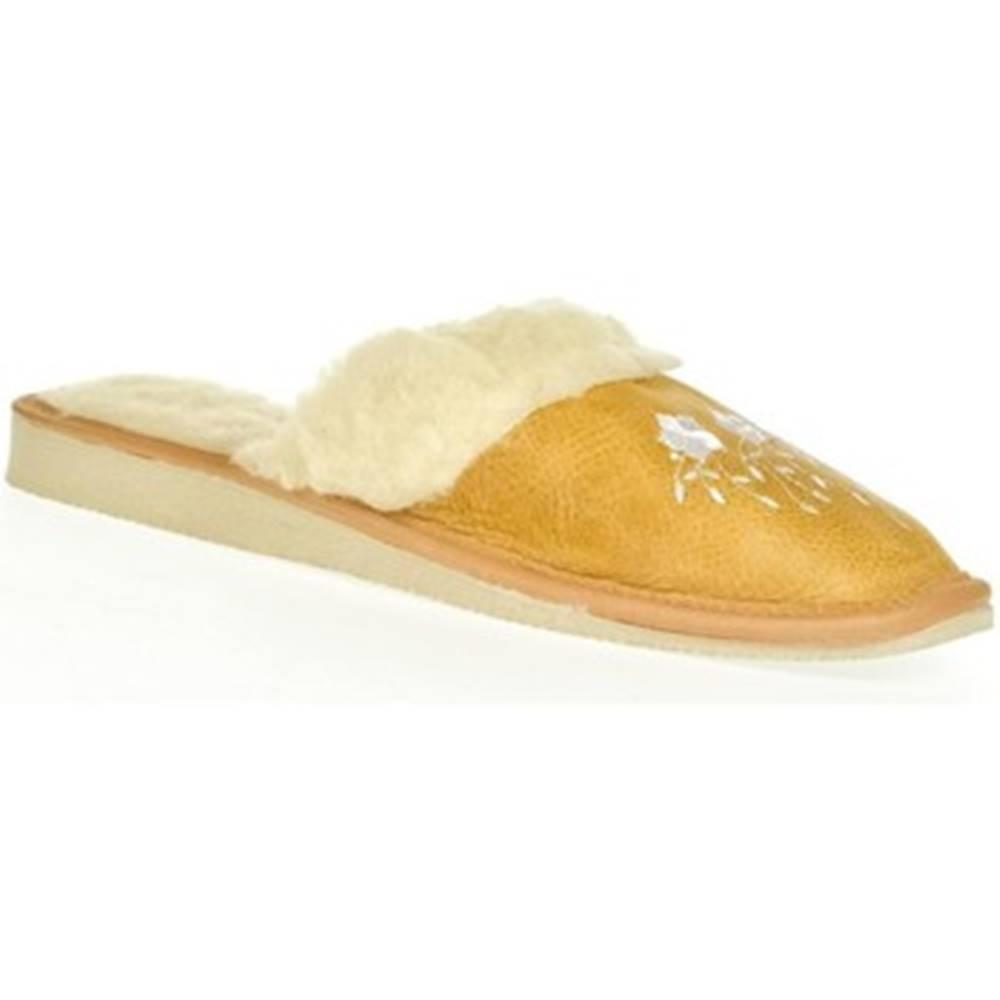 John-C Papuče John-C  Dámske žlté papuče MATILDA