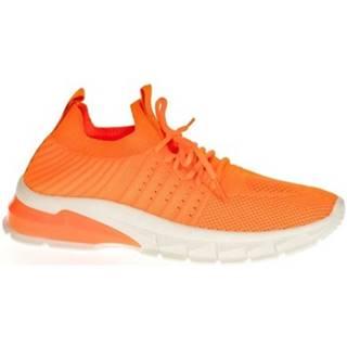 Nízke tenisky John-C  Dámske oranžové tenisky LIA