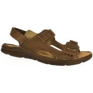 Sandále John-C  Pánske hnedé sandále TISO