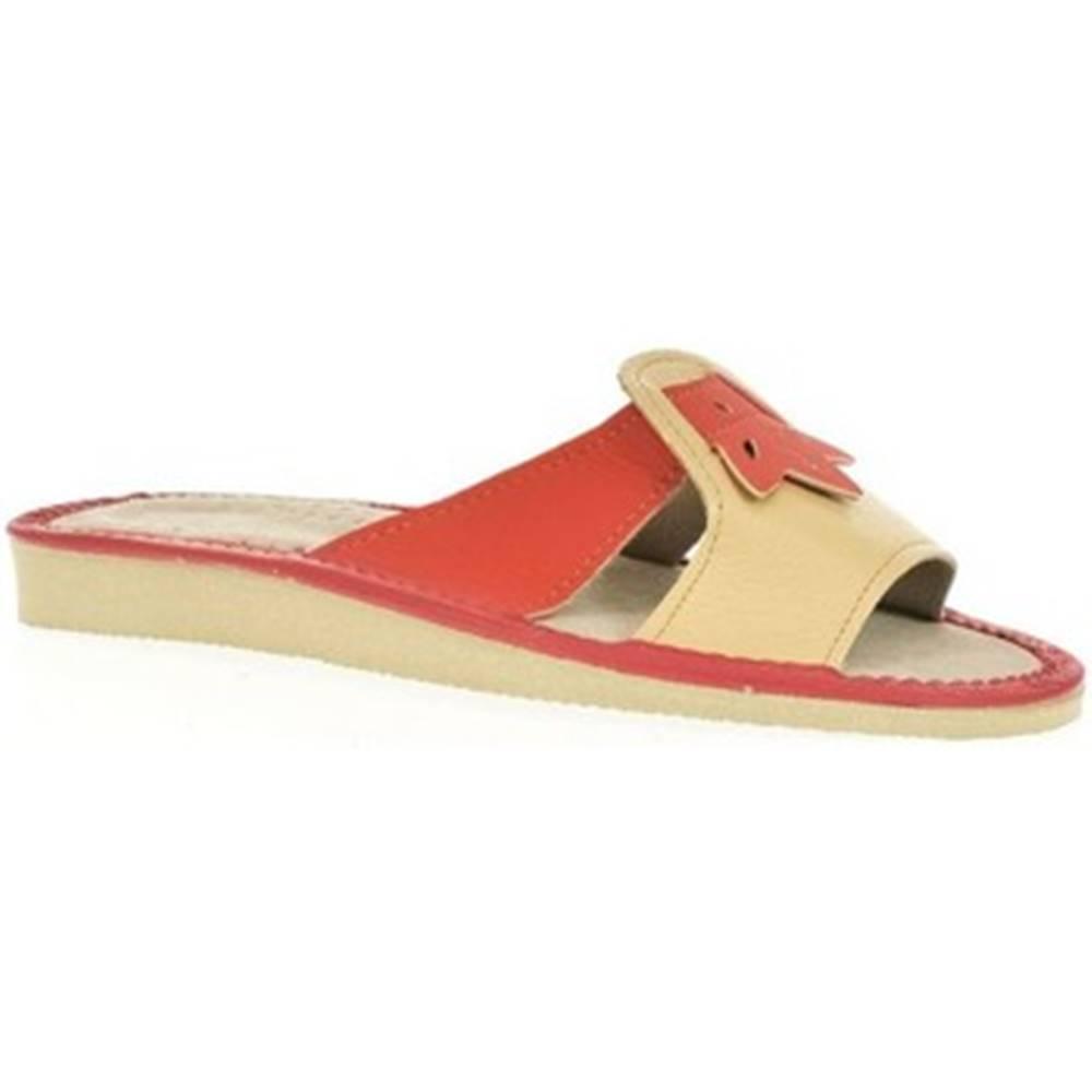 John-C Šľapky John-C  Dámske oranžové papuče TRIN