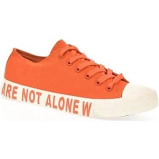 Nízke tenisky Yes Smile  Dámske oranžové tenisky ALONE